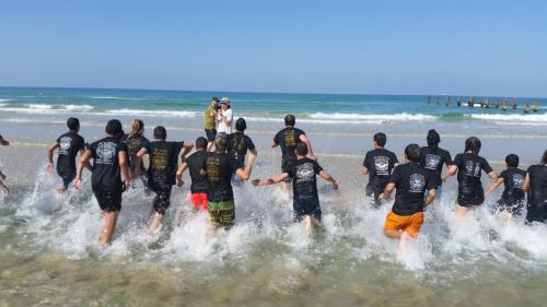 Beach camp Israel